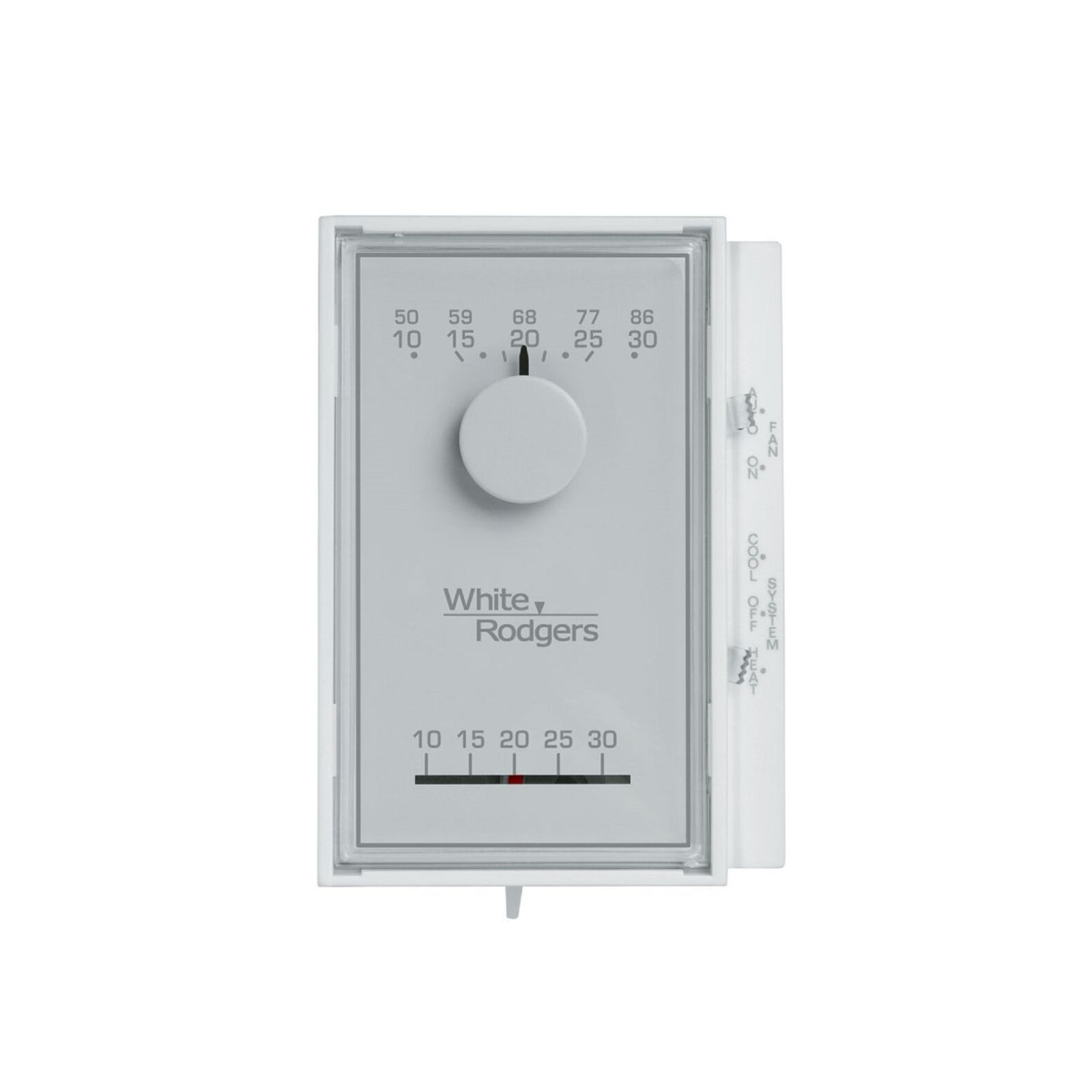 White-Rodgers 1E56N-444 - White-Rogers Mercury Free Mechanical Vertical Thermostat 1H/1C