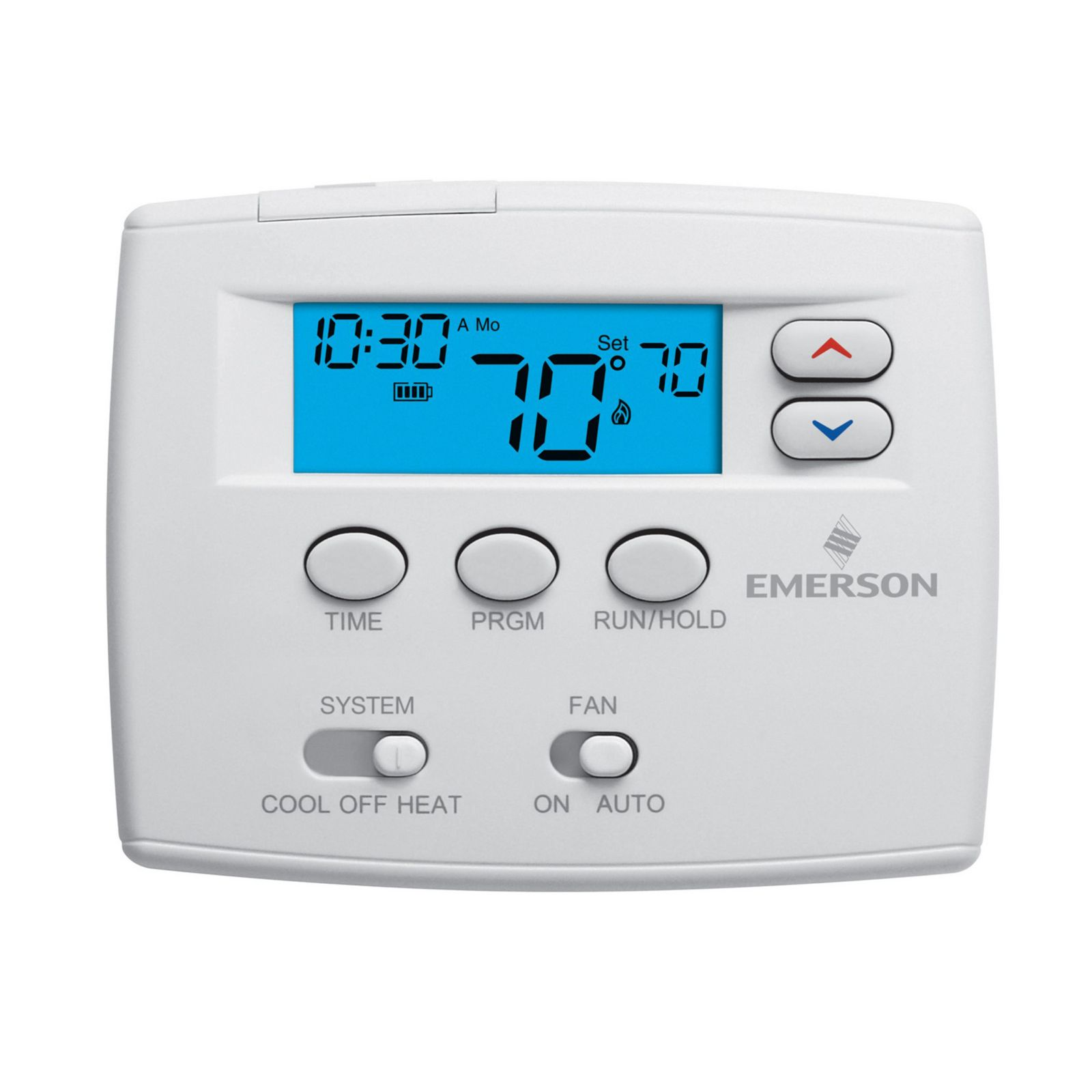 "Emerson Climate 1F80-0224 - Emerson Blue 2"" 24 Hour Programmable Digital Thermostat 1H/1C"