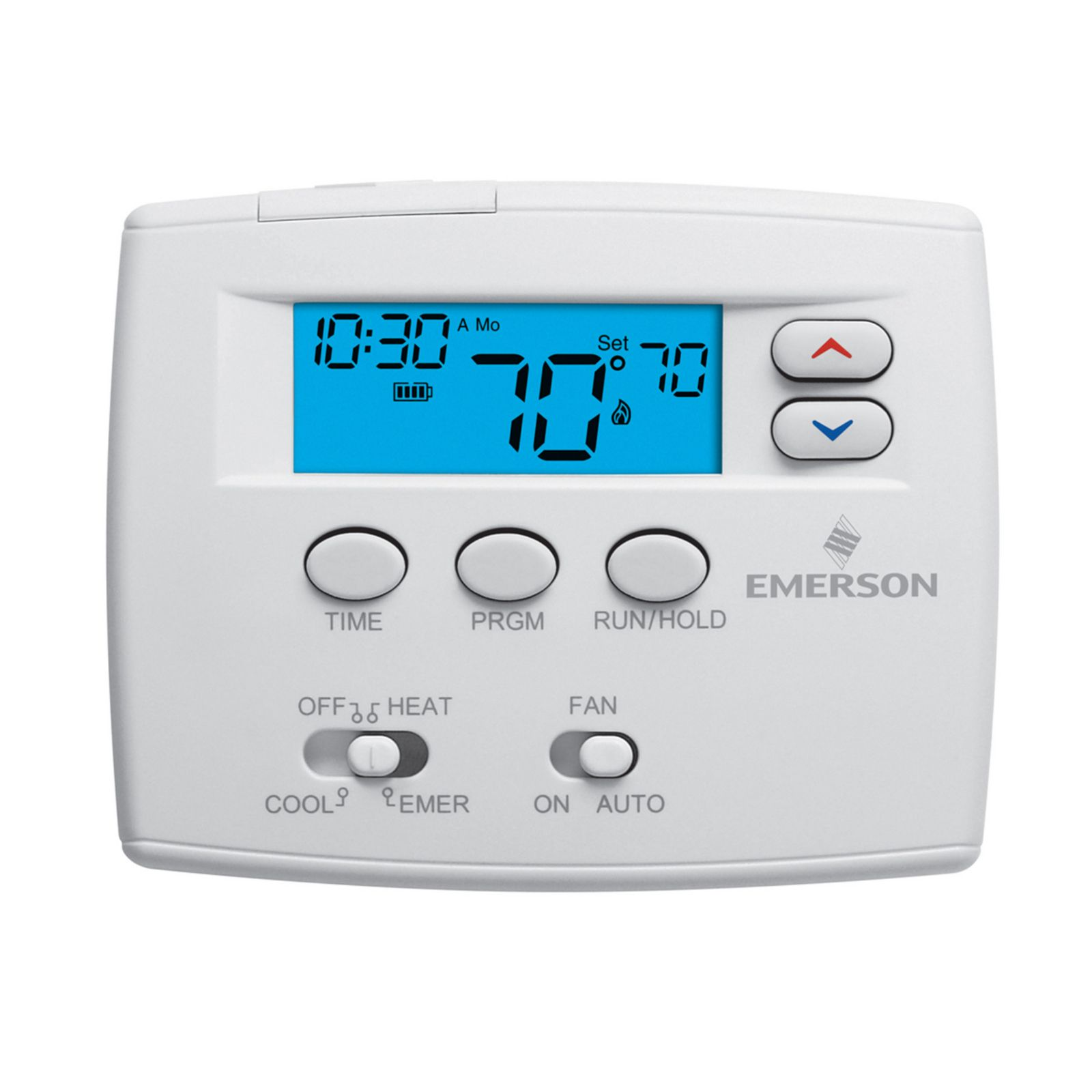 "Emerson Climate 1F82-0261 - Emerson Blue 2"" Programmable Digital Thermostat 2H/1C"