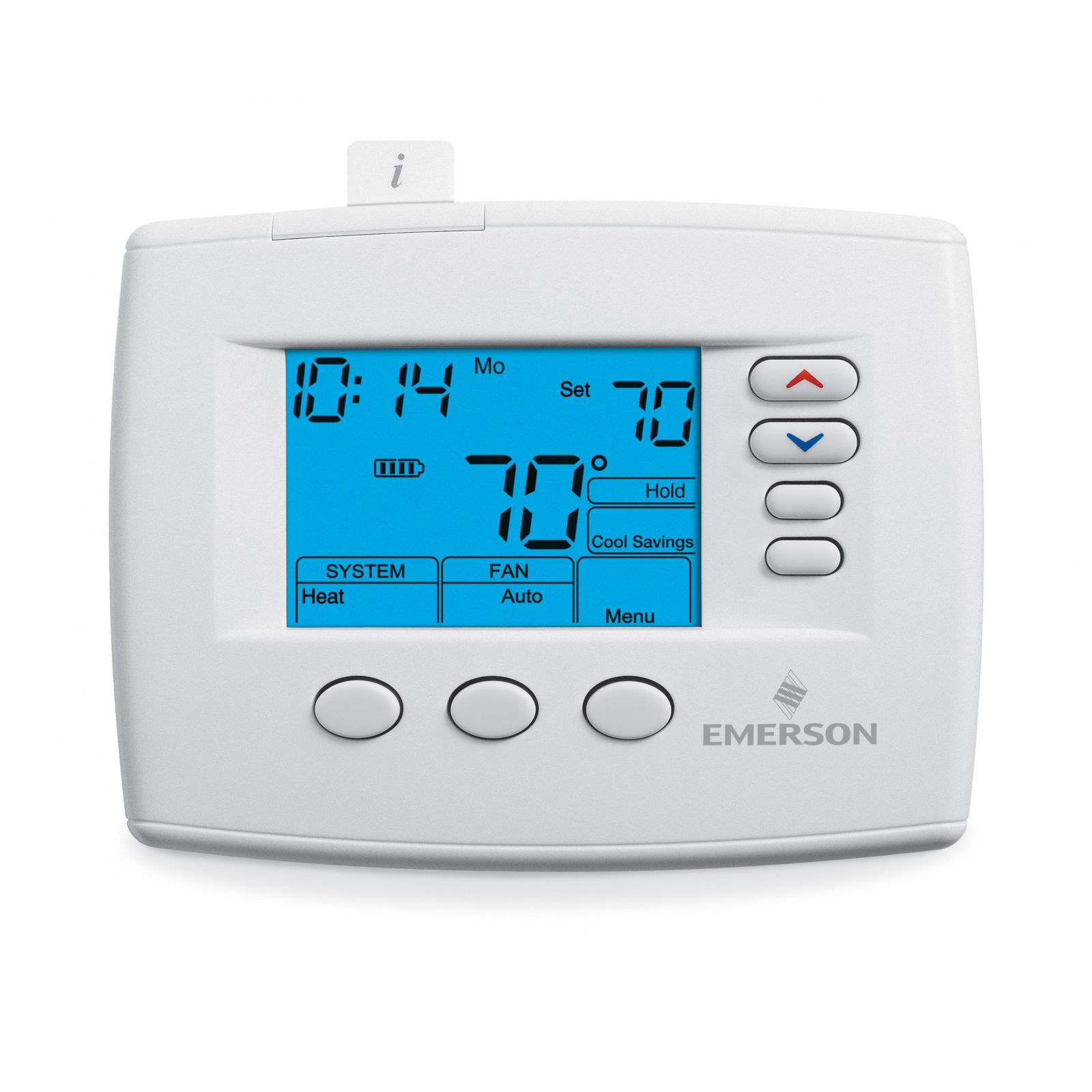 "Emerson Climate 1F85-0477 - Emerson Blue 4"" Programmable (GE: 2-Heat/2-Cool, HP: 3-Heat/2-Cool)"