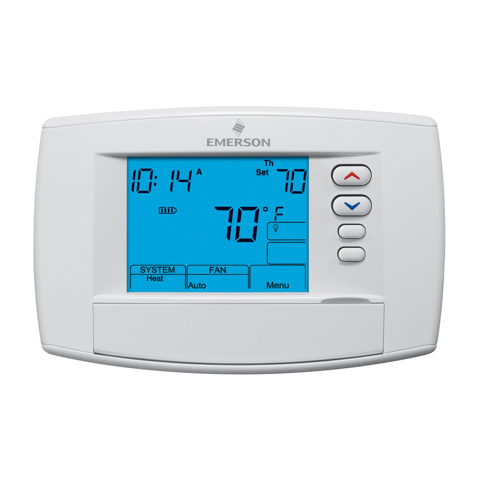 "Emerson Climate 1F95-0680 - Emerson Blue 6"" Programmable/Non-Programmable Digital Commercial Thermostat 4H/2C"