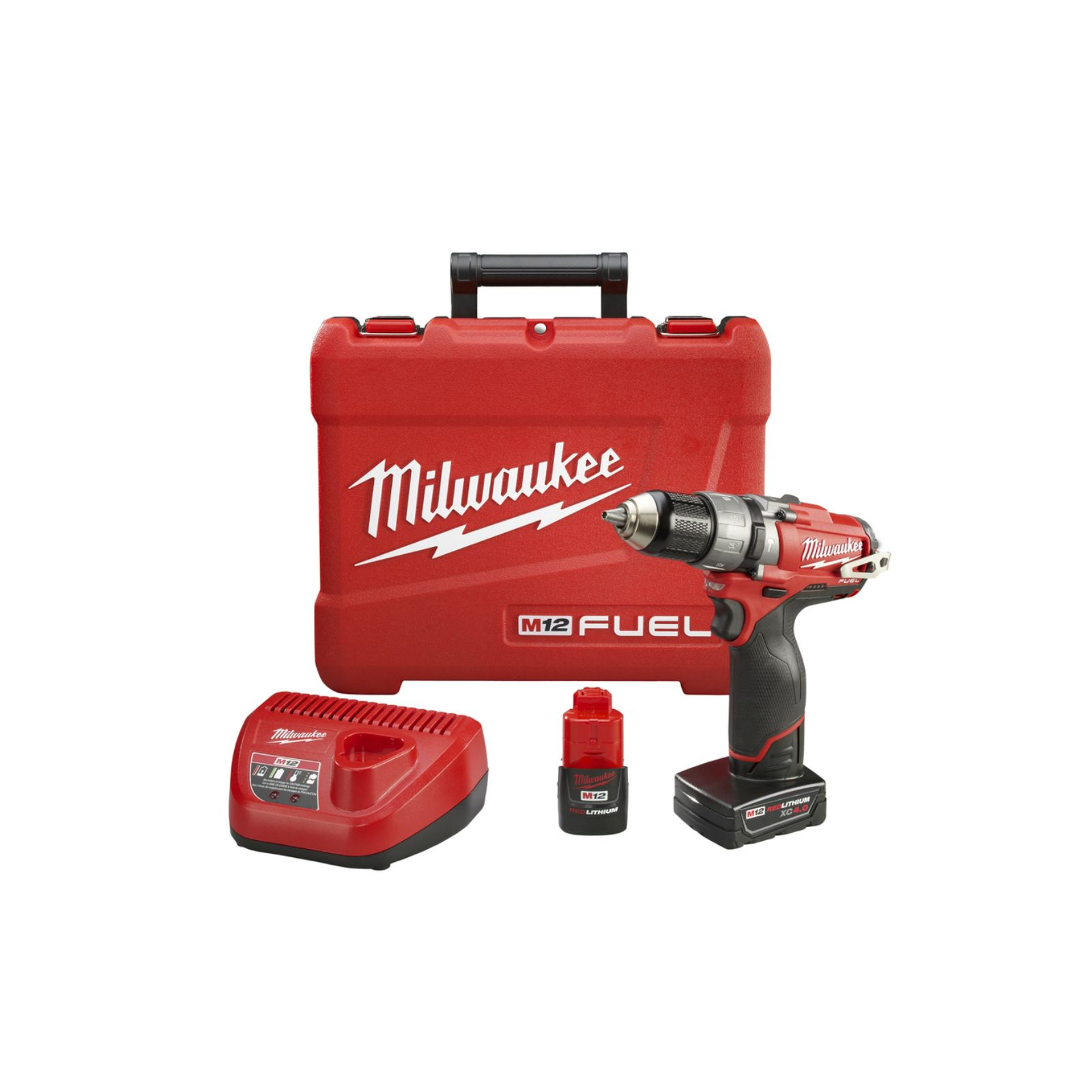 "Milwaukee Tool 2404-22 - M12 FUEL 1/2"" Hammer Drill/Driver Kit"