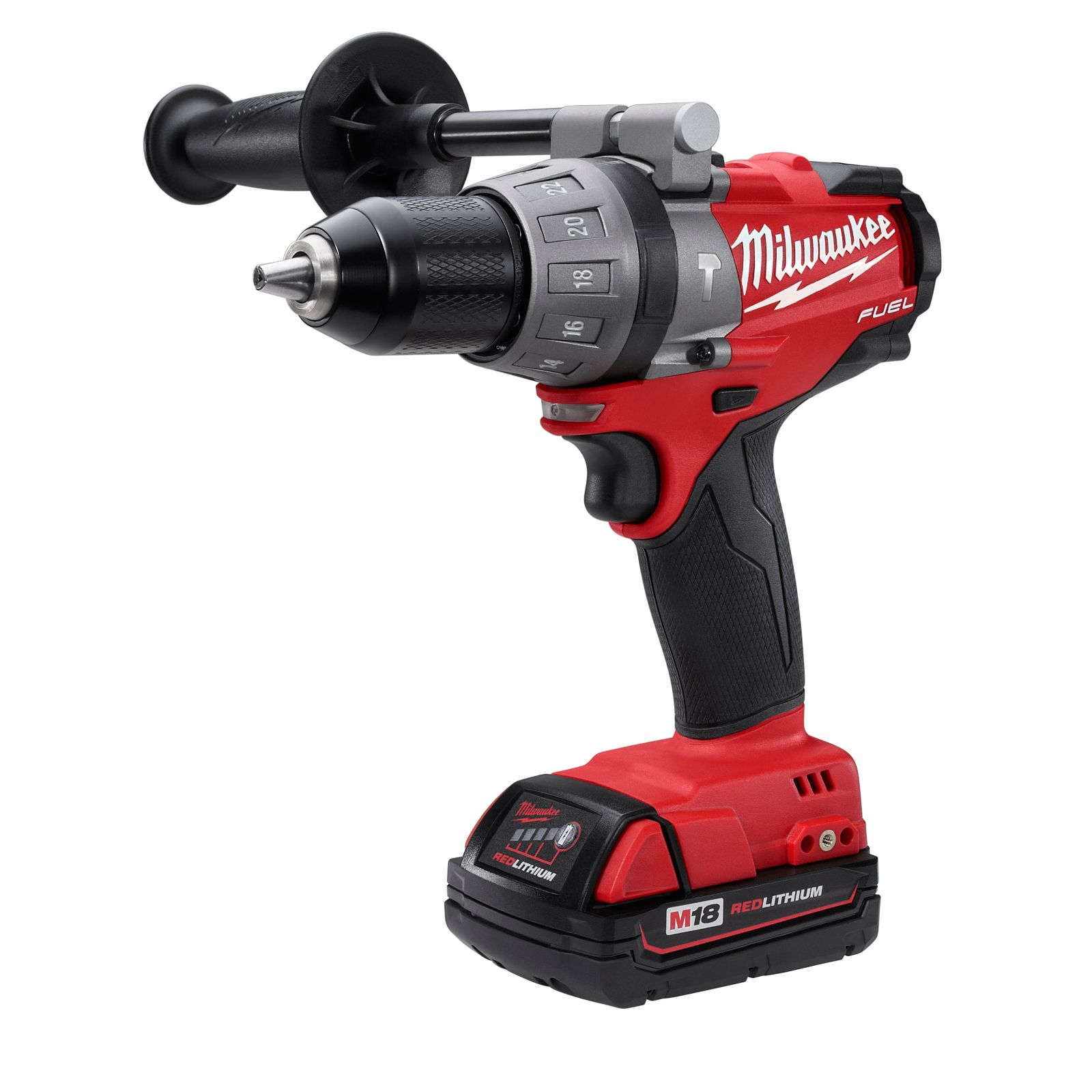 "Milwaukee 2604-22CT - M18 Fuel 1/2"" Hammer Drill/Driver Kit"