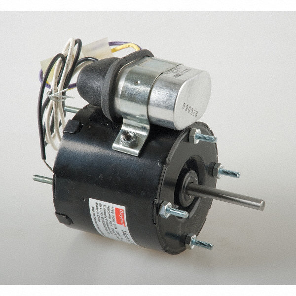 DAYTON 1/20 HP, HVAC Motor, Permanent Split Capacitor, 1550 Nameplate RPM, 115 Voltage, Frame 3.3