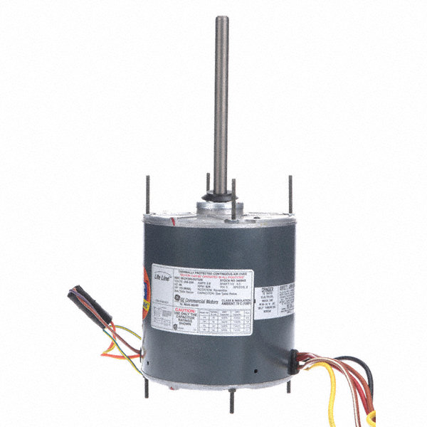 GENTEQ 1/3 to GENTEQ 1/6 HP Condenser Fan Motor,Permanent Split Capacitor,825 Nameplate RPM,208-230 Voltage,Frame