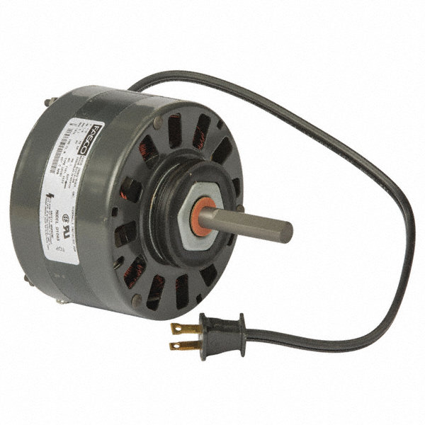 FASCO 1/8 HP Condenser Fan Motor, Shaded Pole, 1070 Nameplate RPM, 115 VoltageFrame Non-Standard