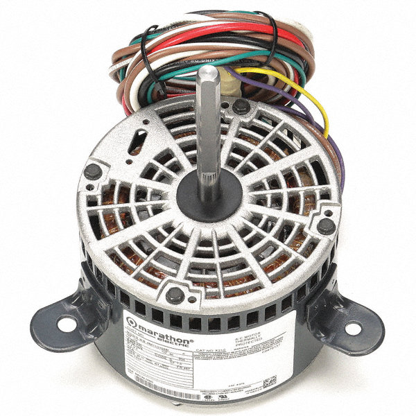 MARATHON MOTORS 1/4 HP Direct Drive Motor, Permanent Split Capacitor, 1075 Nameplate RPM, 208-230 VoltageFrame 48Y
