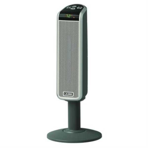 Lasko 5397 30 inch Tall Digital Ceramic Pedistal Heater w/ remote - grey