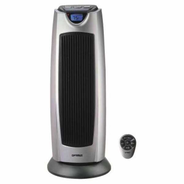 Optimus H7315 Heater 21 Inch Oscillating Tower with Digital - grey