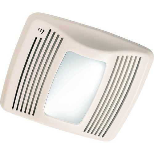 NuTone QTXEN110SFLT 110 CFM 0.7 Sone Ceiling Mounted Energy Star Rated HVI Certified Bath Fan with Humidity Sensor, Light and