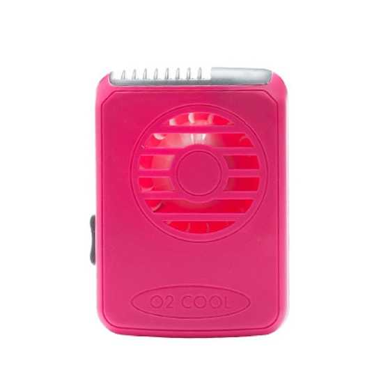 O2 Cool Necklace Personal Cooling Fan, Raspberry