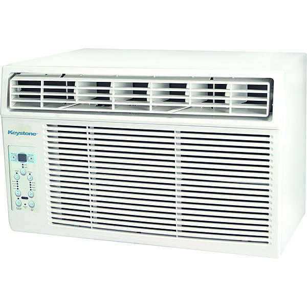 Keystone KSTAW05C 5,000 BTU 115V Window-Mounted Air Conditioner with 'Follow Me' LCD Remote Control