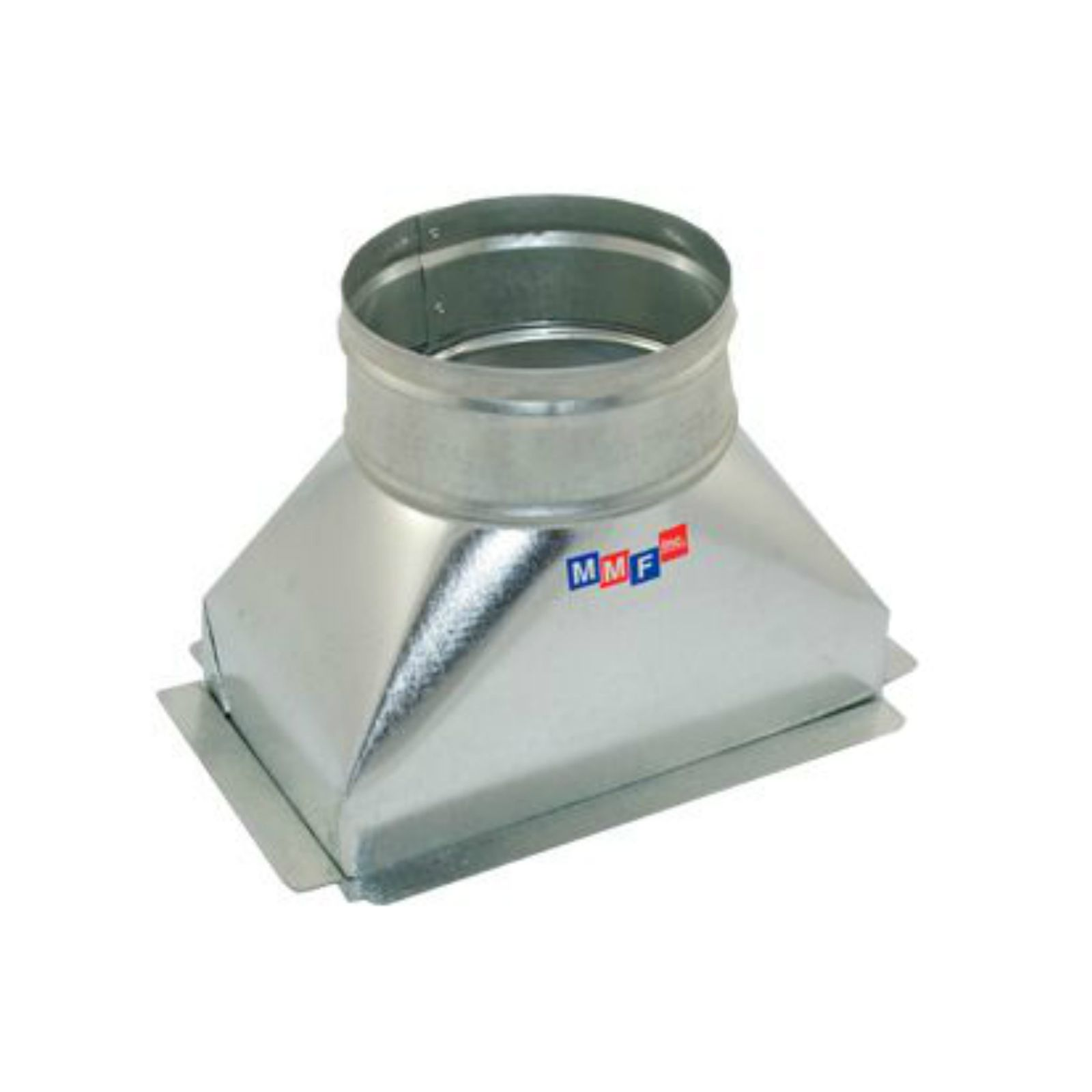 "Modular Metal BTSFI120607P - Sealed Floor Box - 26 Gauge - With Plaster Ground Flange 12"" X 06"" To 07"" Round"