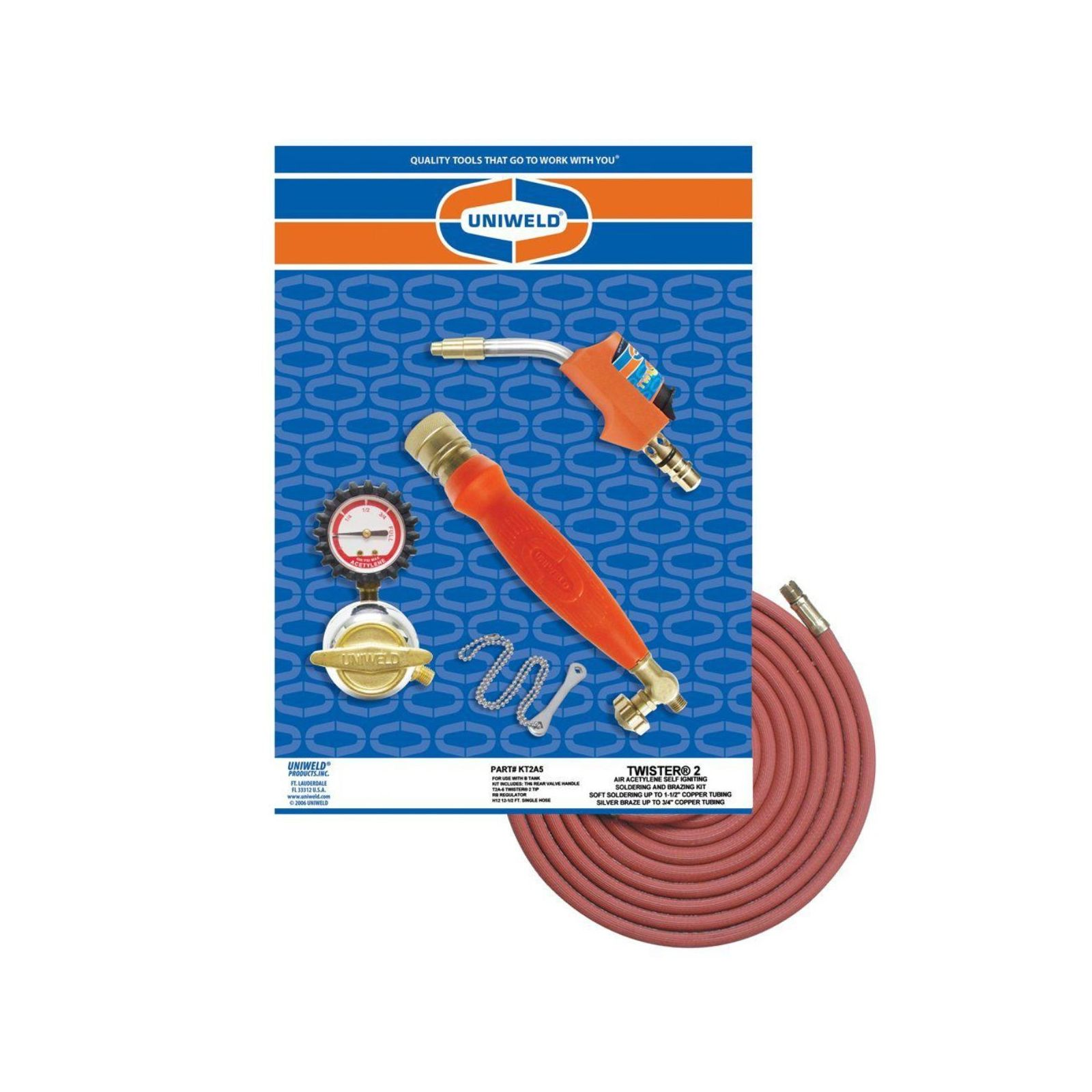 Uniweld KT2A5 - Acetylene Twistera® 2 Self Igniting B Kit with T2A-5 Twistera®2 Swirl Combustion Tip