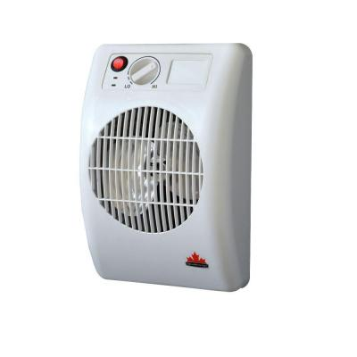 "1500-Watt Outlet Mountable ""Off the Wall"" Bed/Bathroom Heater Equipped with SMART ThermaFlo Technology"