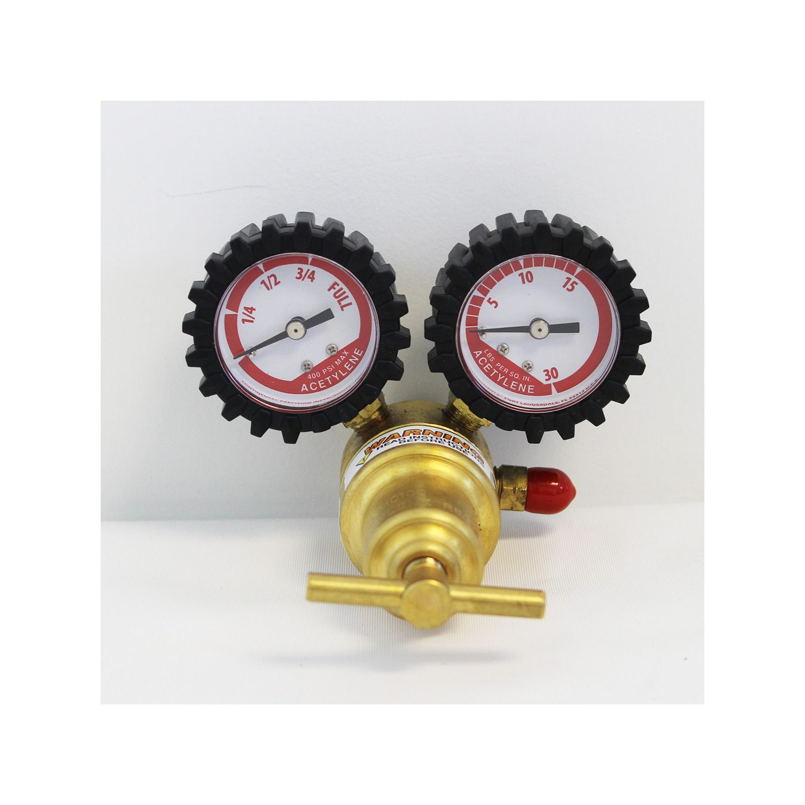 "Uniweld RMC100 -   Centurion Series Acetylene Regulator with ""A"" Outlet Connection and 200 CGA Inlet"
