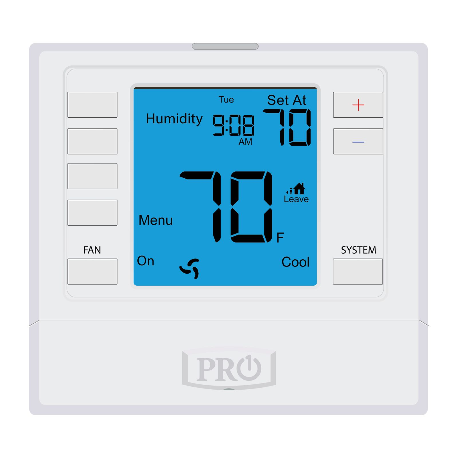 Pro1 T755S - 5+1+1 Or Non-Programmable Thermostat, 3H/2C With 6 Square Inch Display. Sensors Not Included.