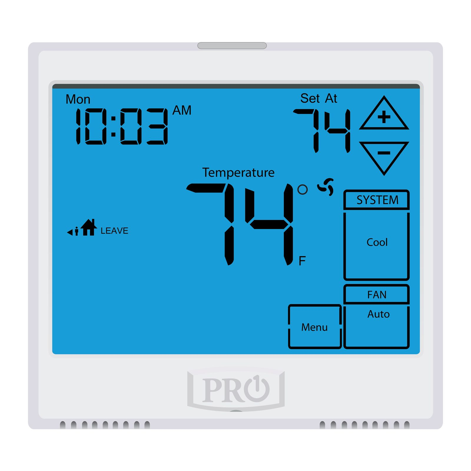 Pro1 T925 - Touchscreen, 5+1+1 Or 7 Day Or Non-Programmable Thermostat, 3H/2C Heat Pump With 13 Square Inch Display