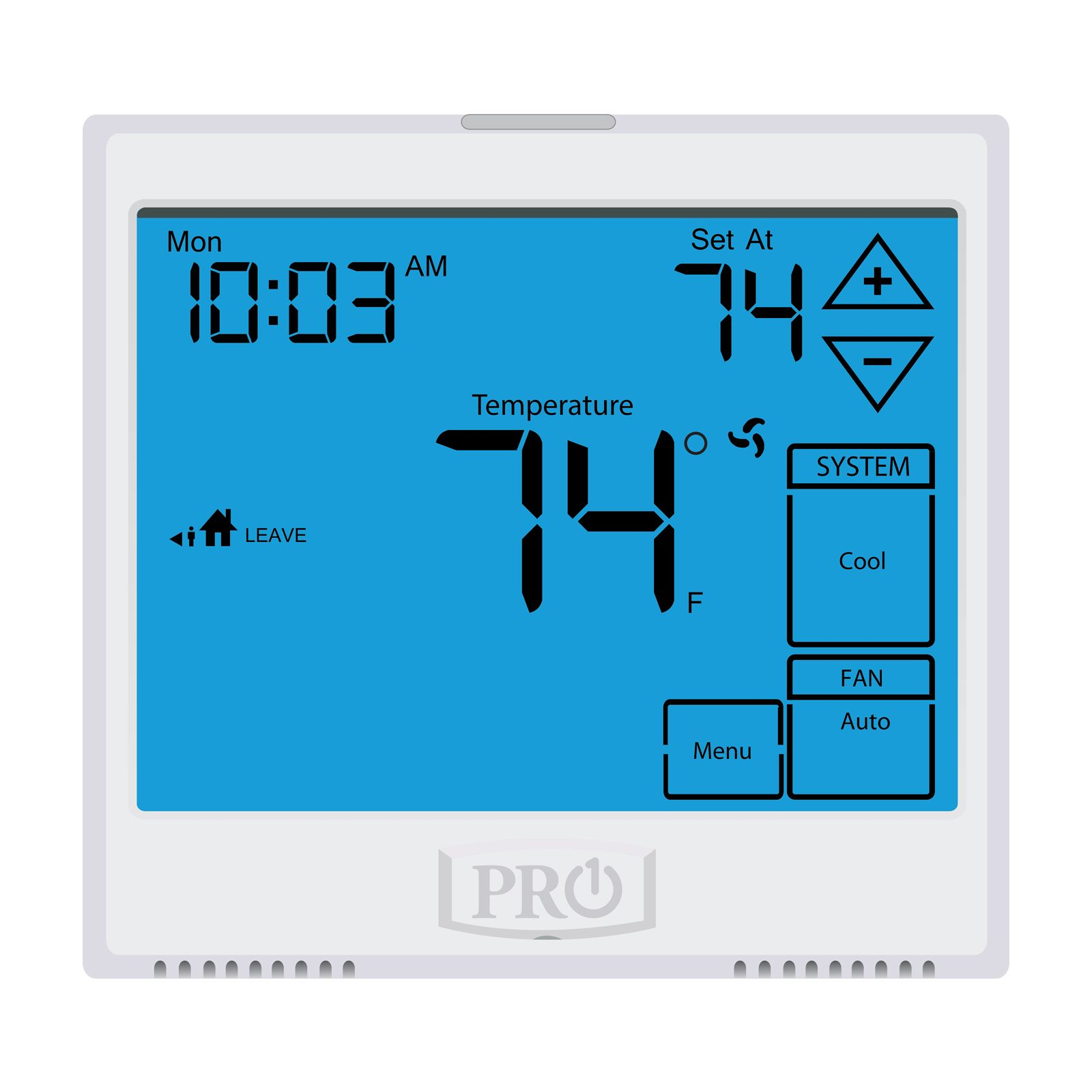 Pro1 T955 - Touchscreen, 5+1+1 Or 7 Day Or Non-Programmable Thermostat, 3H/2C With 13 Square Inch Display