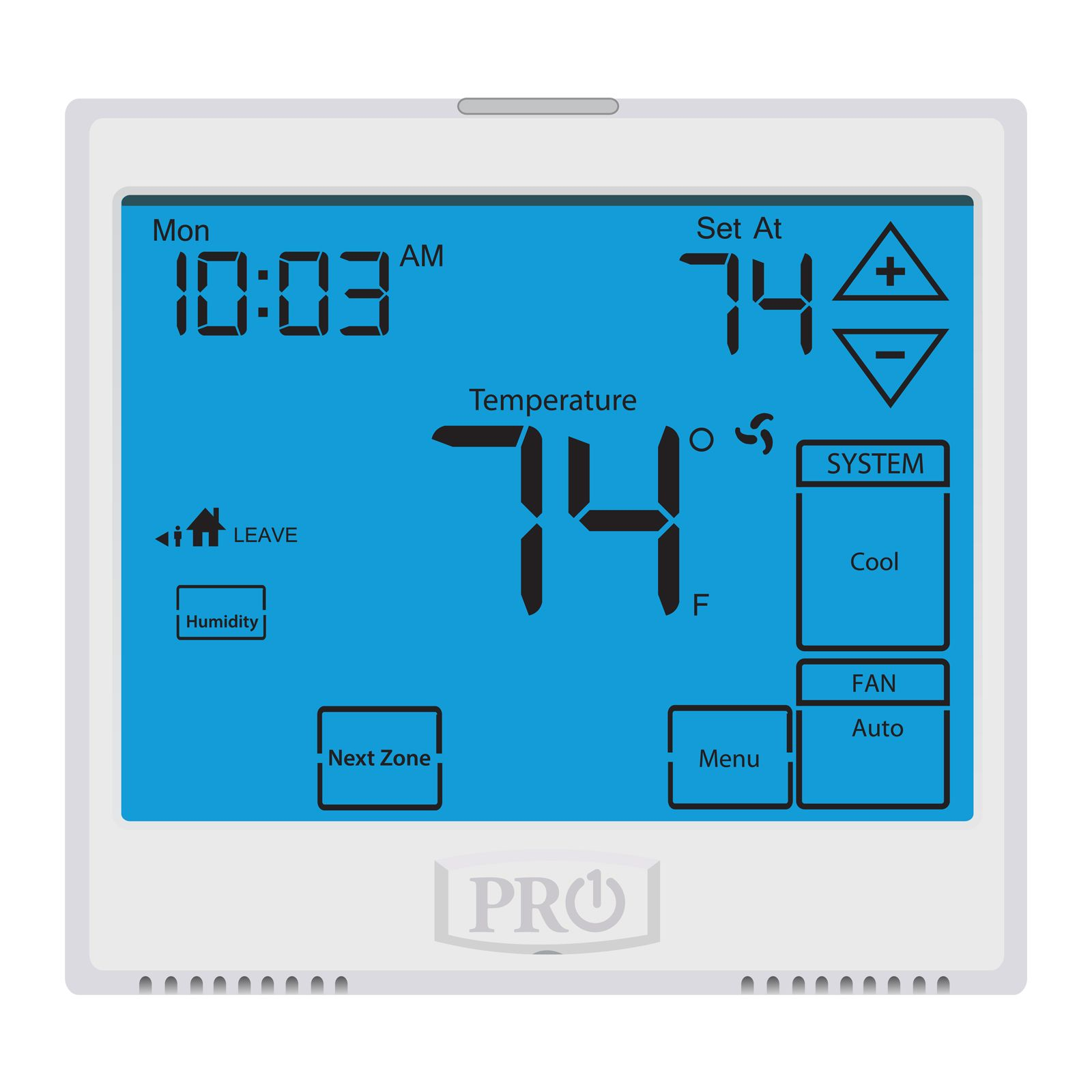 Pro1 T955WH - Wireless Touchscreen, 5+1+1 or 7 Day Or Non-Programmable Thermostat With Humidify Control, 3H/2C