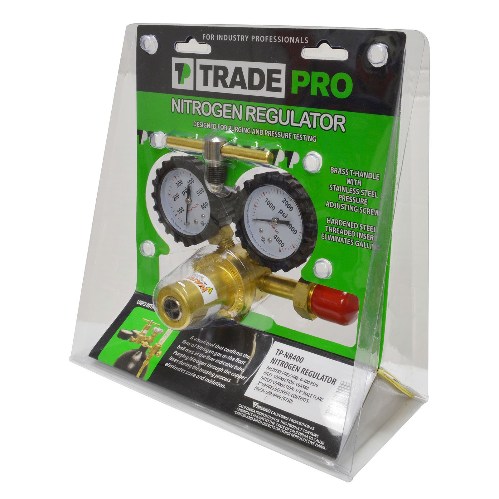 TradePro TP-NR400 - Nitrogen Regulator with a CGA580 Inlet