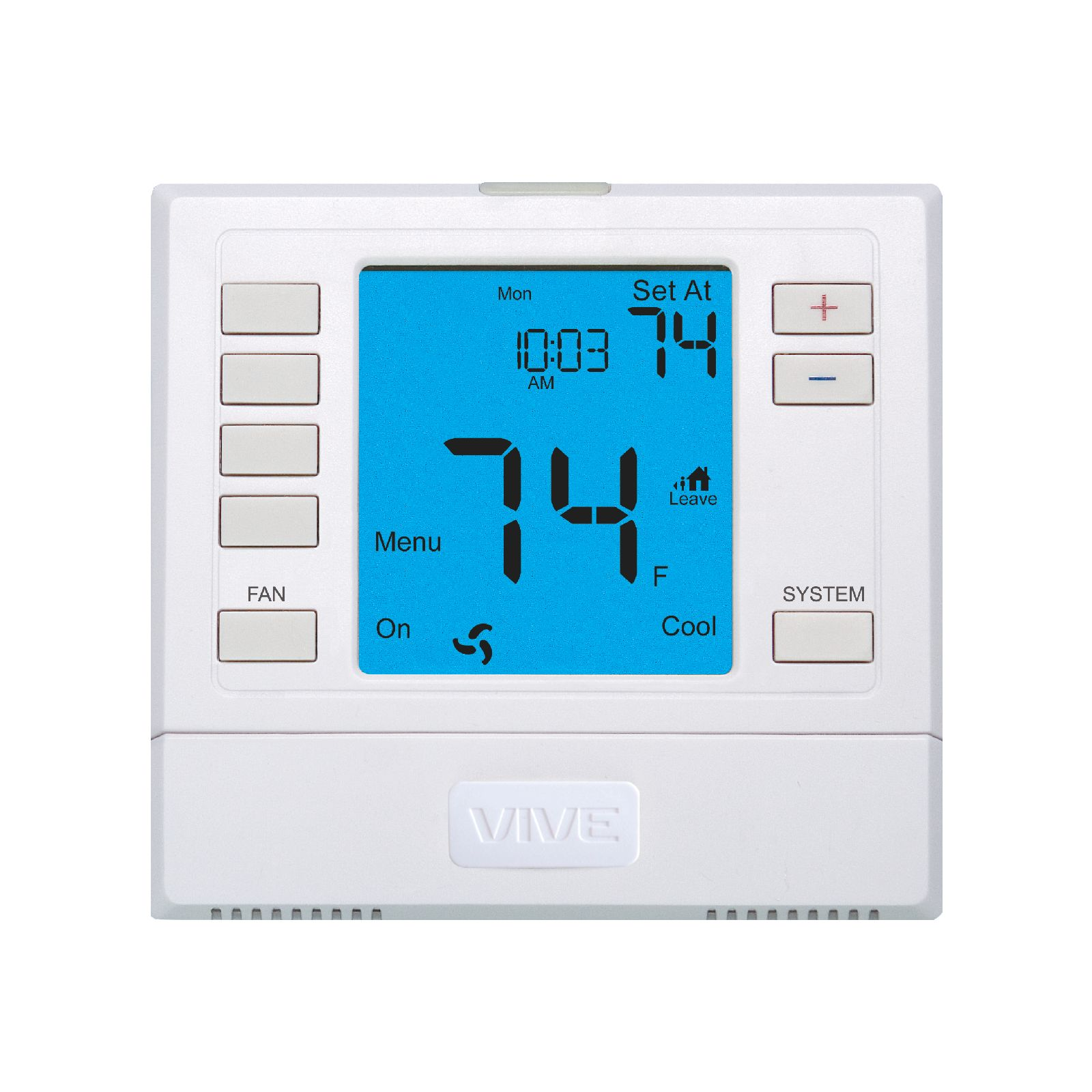 VIVE TP-S-755R - 5+1+1 Or Non-Programmable Remote Sensor Capable Thermostat, 3H/2C, Universal With 6 Sq. In. Display