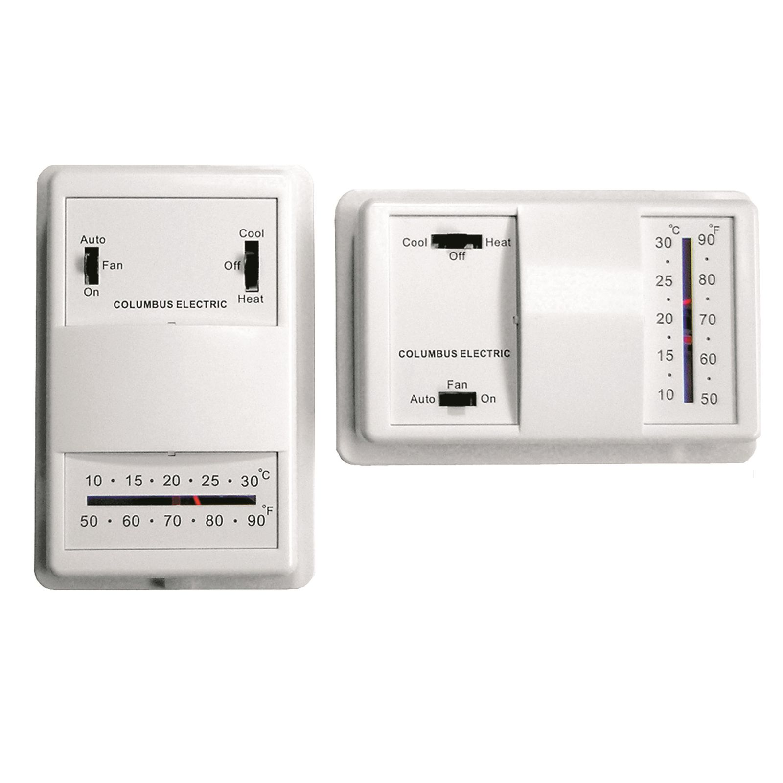 TPI UT1001 - Low Voltage Wall Mounted Thermostat, Heat Only For 24 VAC or Millivolt Systems, No Switches