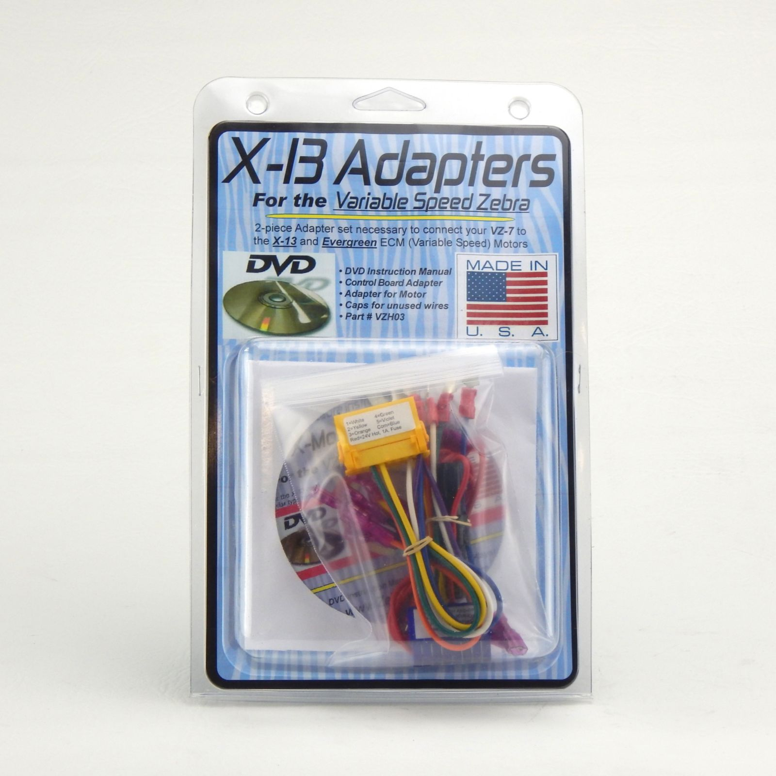 Zebra VZH03 - X-13 and Evergreen Motor Adapters (with DVD) for VZ-7 Tester